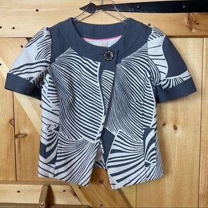 anthro | taikonhu grey patterned short sleeve blaz